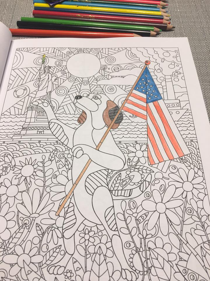 Beagle-coloring-book-New York page